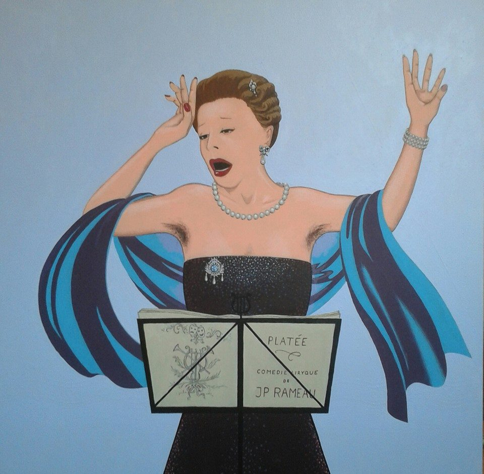 Opéra Francais. Acryl op paneel. 61 bij 60 cm.