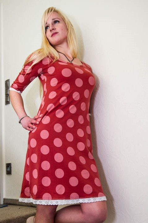 Bio-Kleid Big Dots#lillestoff