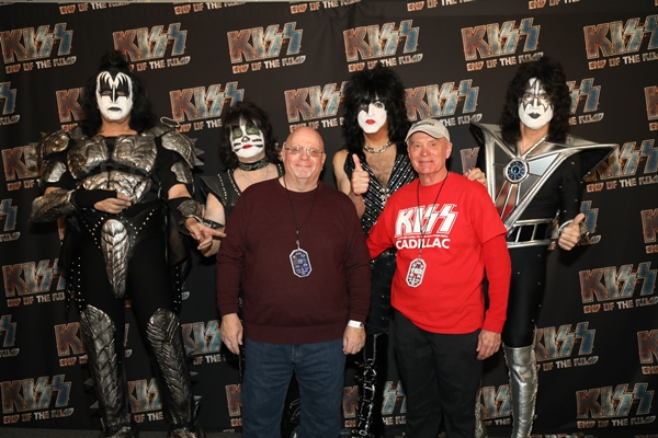 The Neff Brothers, Rob and Jim, with KISS.