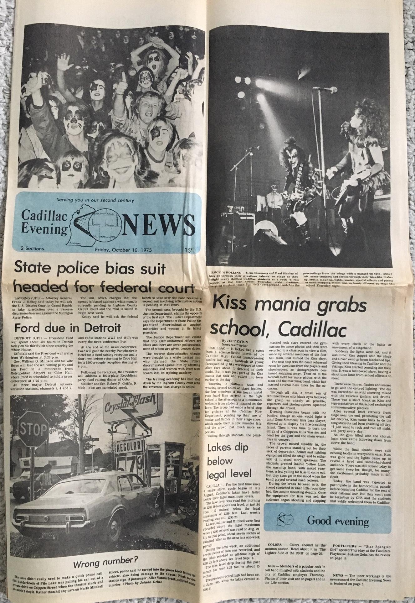 Cadillac Evening News >> Press Release Cadillac Kiss By Jim Neff