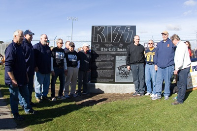 Members of the 1974 and 1975 Cadillac Vikings football team.