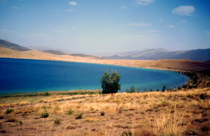 Biotope ouvert à ssp. megalatlasica, Lac Tislit, Haut Atlas oriental