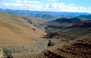 Espace de vol, Tizi-n-Tinififft, Anti-Atlas nord-oriental