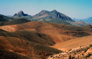 Habitat steppique, Aït Abdallah, Anti-Atlas sud-occidental