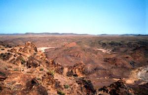 Site méridional de hilltopping des mâles, Djebel Bachkoum, Anti-Atlas nord-oriental