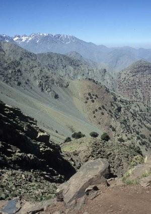 Habitat dans le Massif du Toubkal, Haut Atlas central