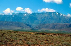 Habitat général au nord du Djebel Ayachi, Haut Atlas oriental
