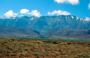 Habitat général au nord du Djebel Ayachi, Haut Atlas nord-oriental