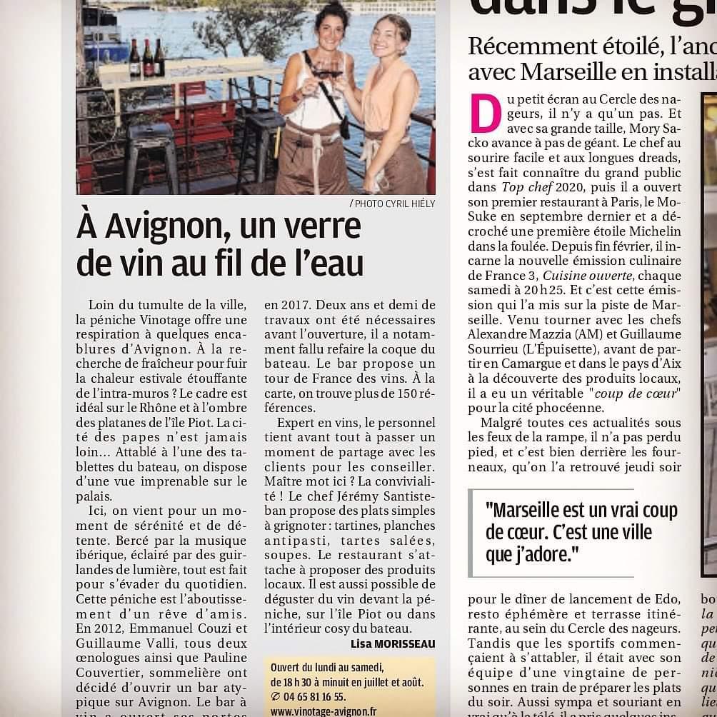 Article La Provence - La Terrasse du Jour