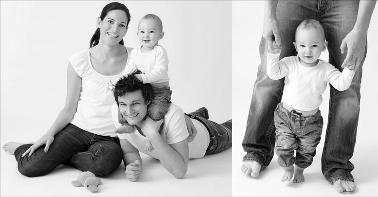 Familienportrait mit Kind