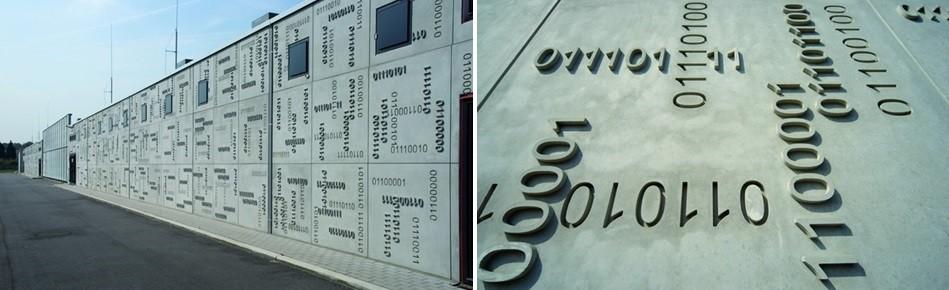 façade code binaire, coffrage noe