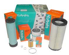 Kit filtre moteur mini pelle kubota
