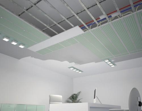 Plafond chauffant rayonnant airsoft sp cialiste en puits canadien vmc double flux haut - Panneau rayonnant plafond ...