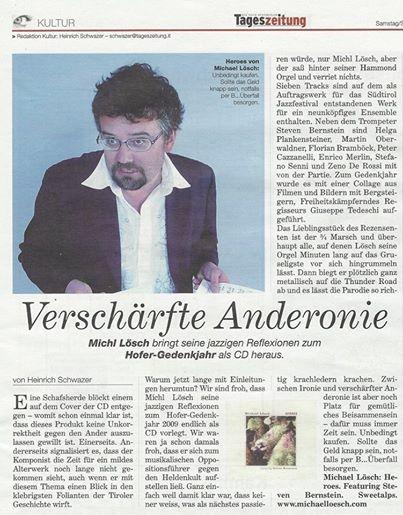 Tageszeitung - Heinrich Schwazer