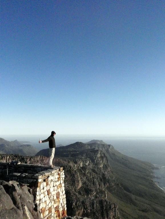 Au sommet de la Table Mountain, Cape Town, Afrique du Sud