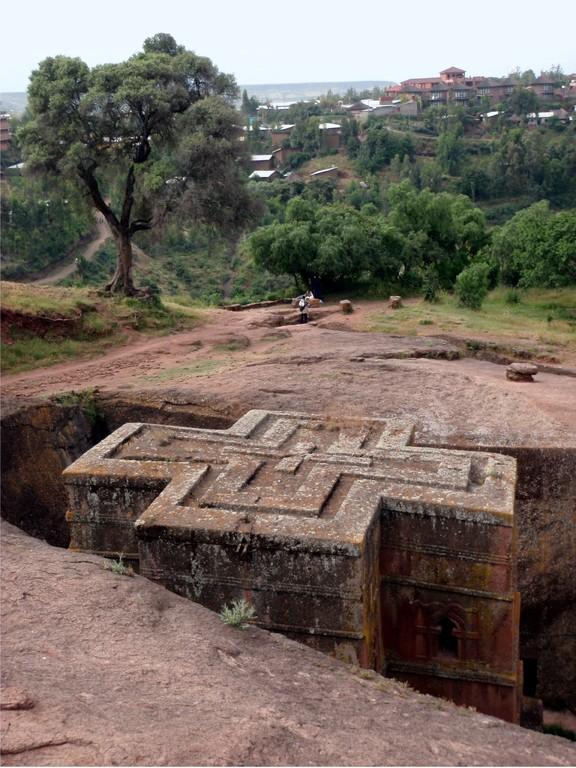 Lalibella, église monolithique, Ethiopie