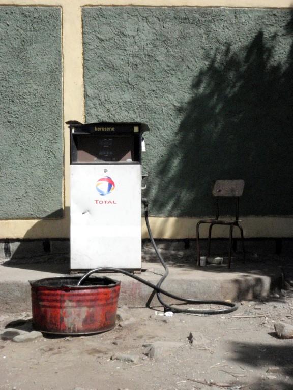 Pompe à essence, en direction de la frontière Soudanaise, Ethiopie