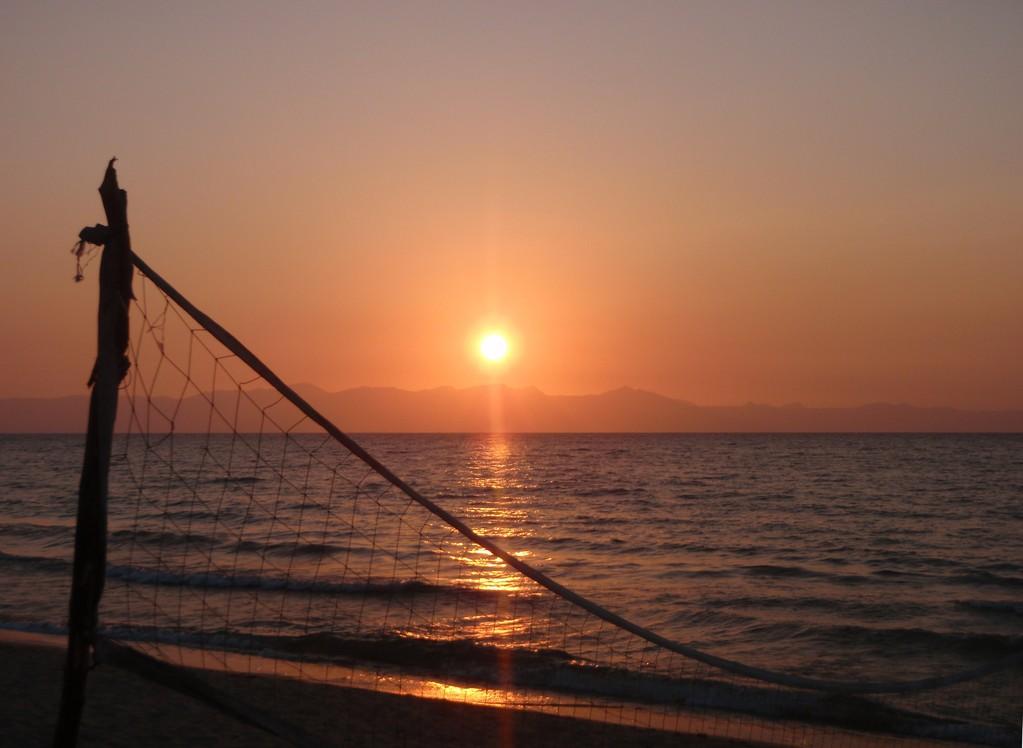 Levé de soleil, Monkey Bay, Malawi
