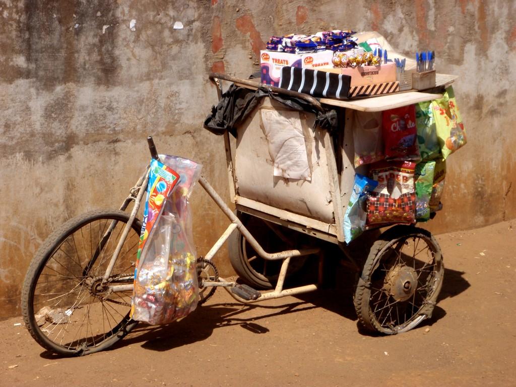 Tricycle d'un vendeur ambulant, Lusaka, Zambie