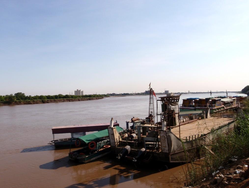 Bargue sur le Nil, Khartoum, Soudan