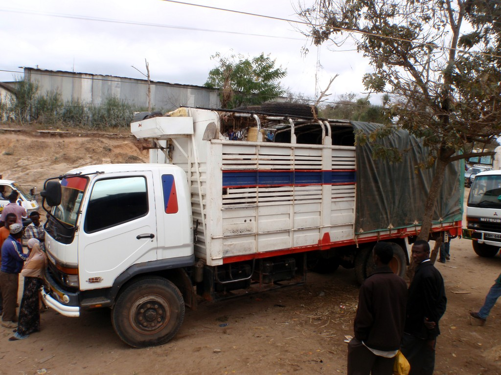 Camion pour le retour à Nairobi, Kenya