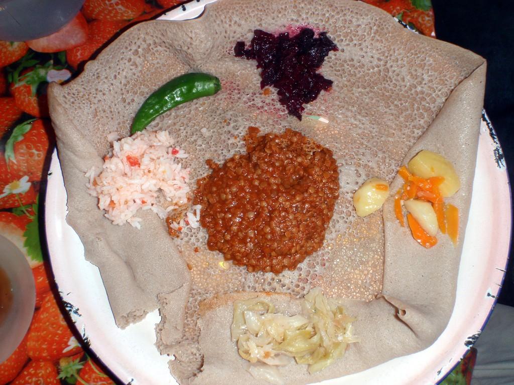 Injera, galette éthiopienne, Ethiopie