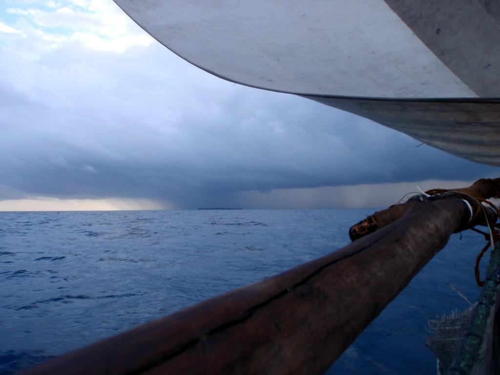 Grain à babord, quelque part sur l'Océan Indien