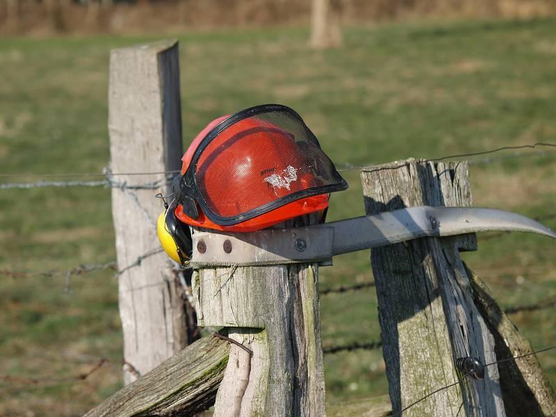 Sicherheit, ein Helm darf nicht fehlen