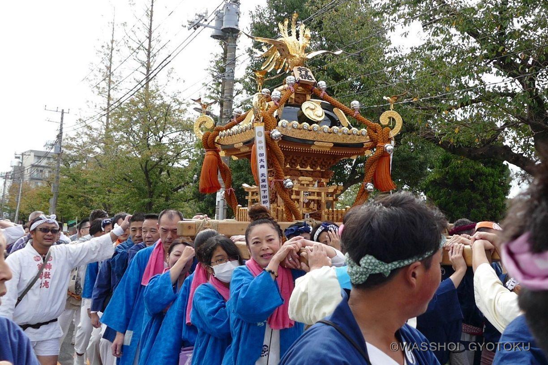 最後が江戸前神輿です