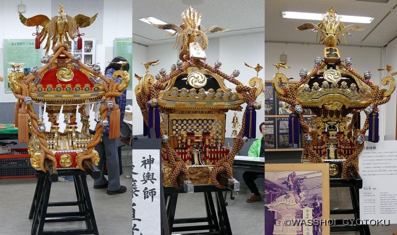 行徳の3つの神輿屋の神輿が一堂に会したのは初めて