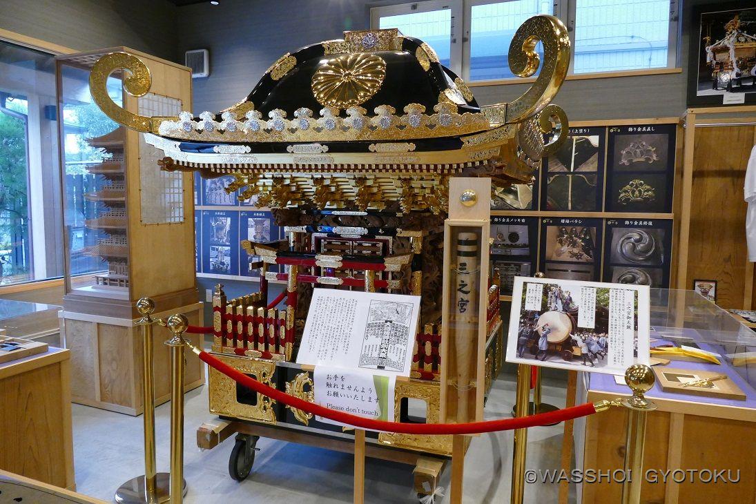 中台製作所修復の神輿を期間限定展示