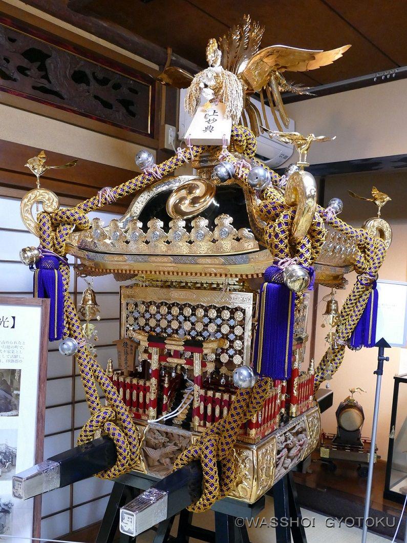 常設展示されている後藤神輿