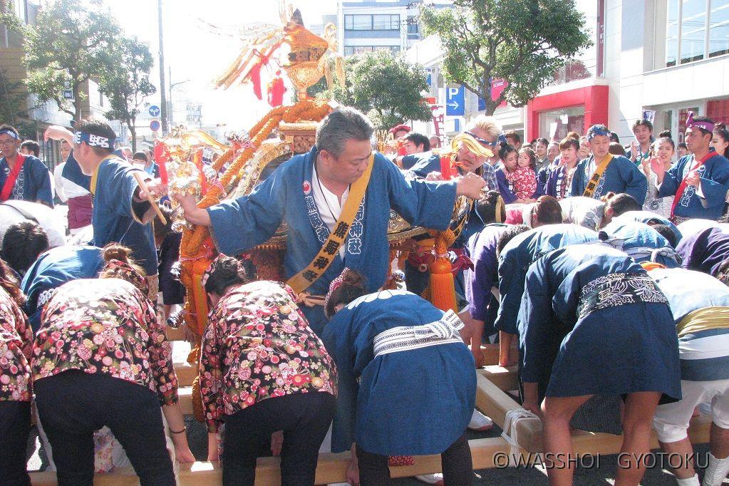 行徳の多くの祭りとは異なる地すりです