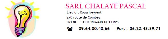 SARL Chalaye