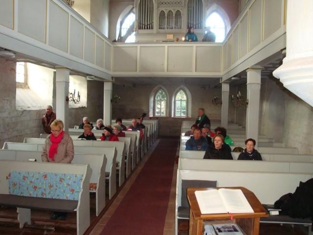 In der Kirche Kriebitzsch