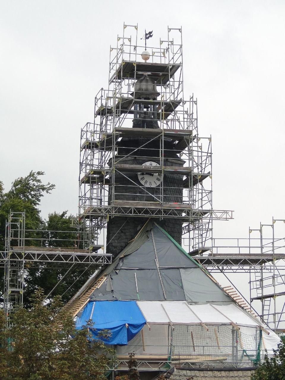 Blick auf den Kirchturm