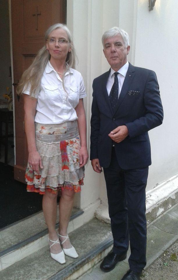 Pfarrerin Mönnich und Superintendent Wegner