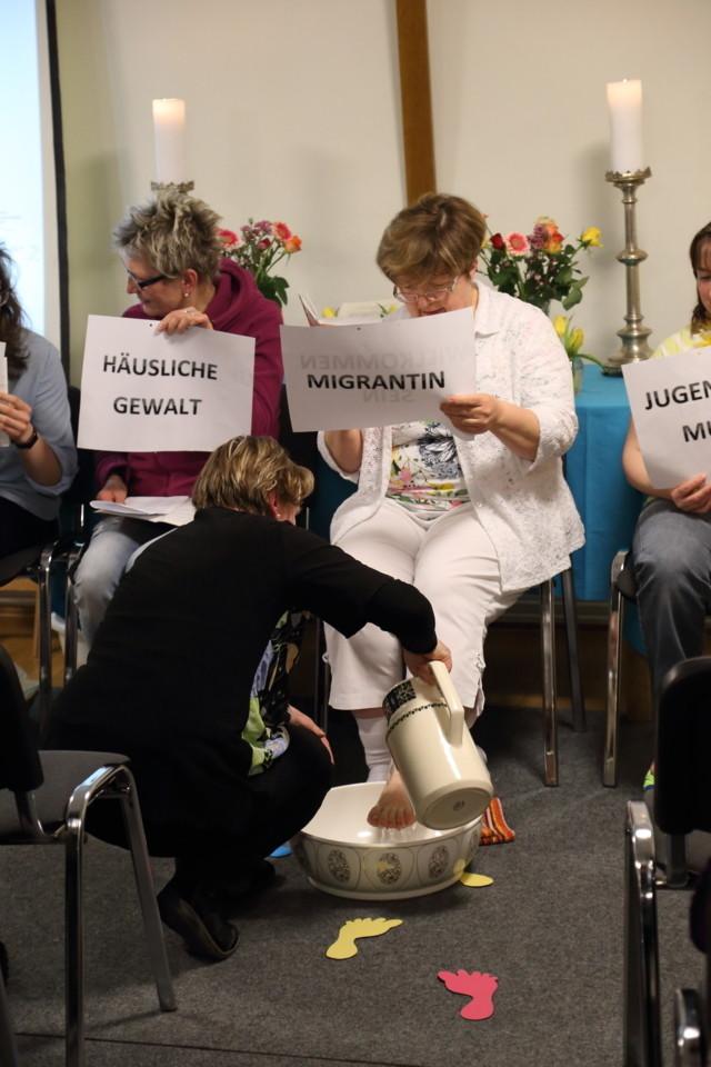 Gebetszeit mit Fußwaschung