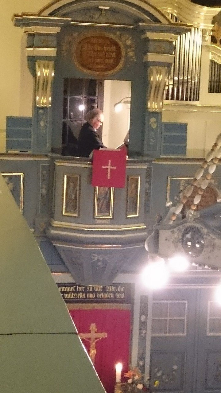 U. Pakusch an der Orgel