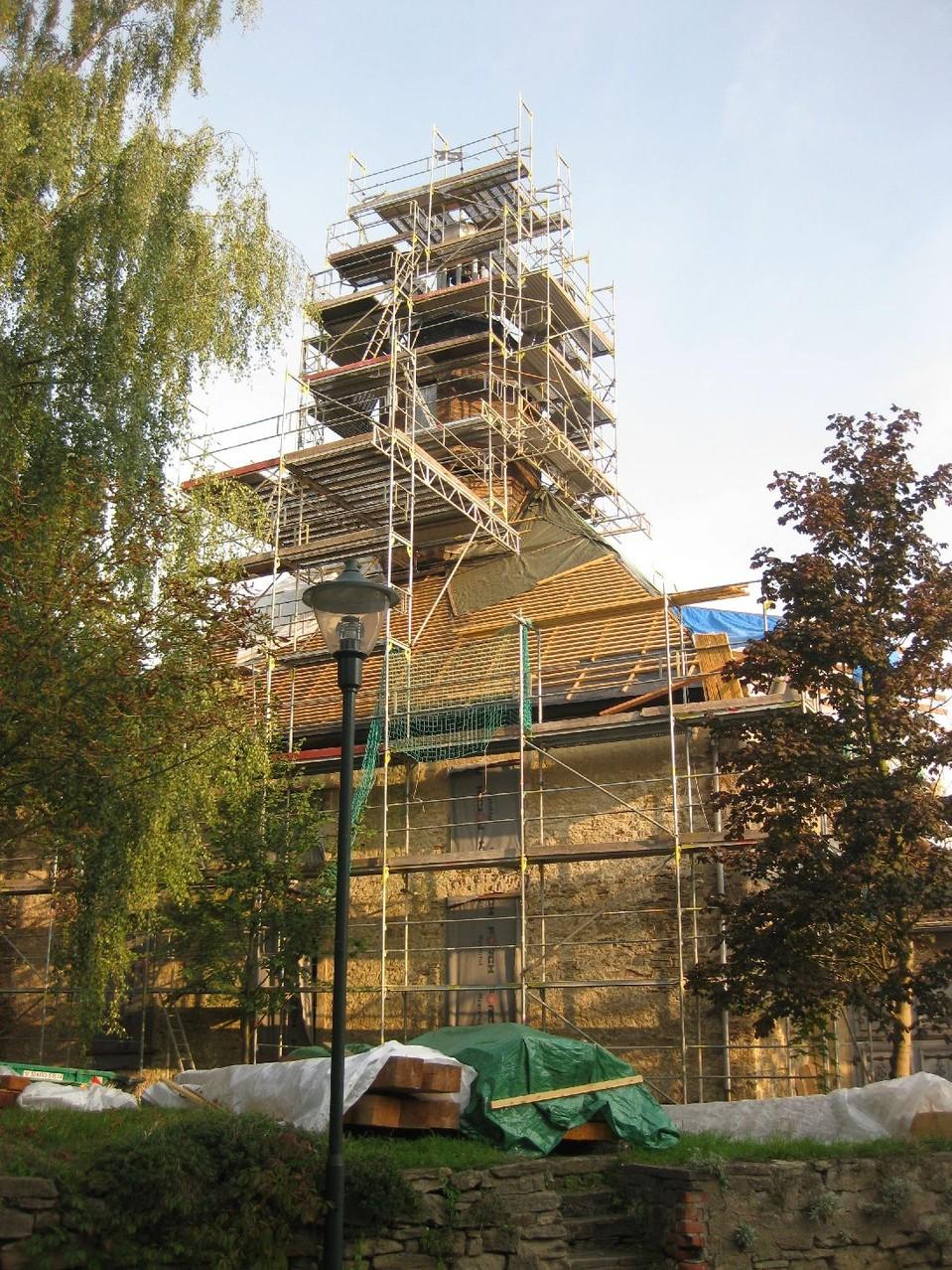 Blick auf die Kirche am 06.09.2014