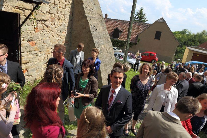 So viele Besucher sah die Tegkwitzer Kirche lange nicht..
