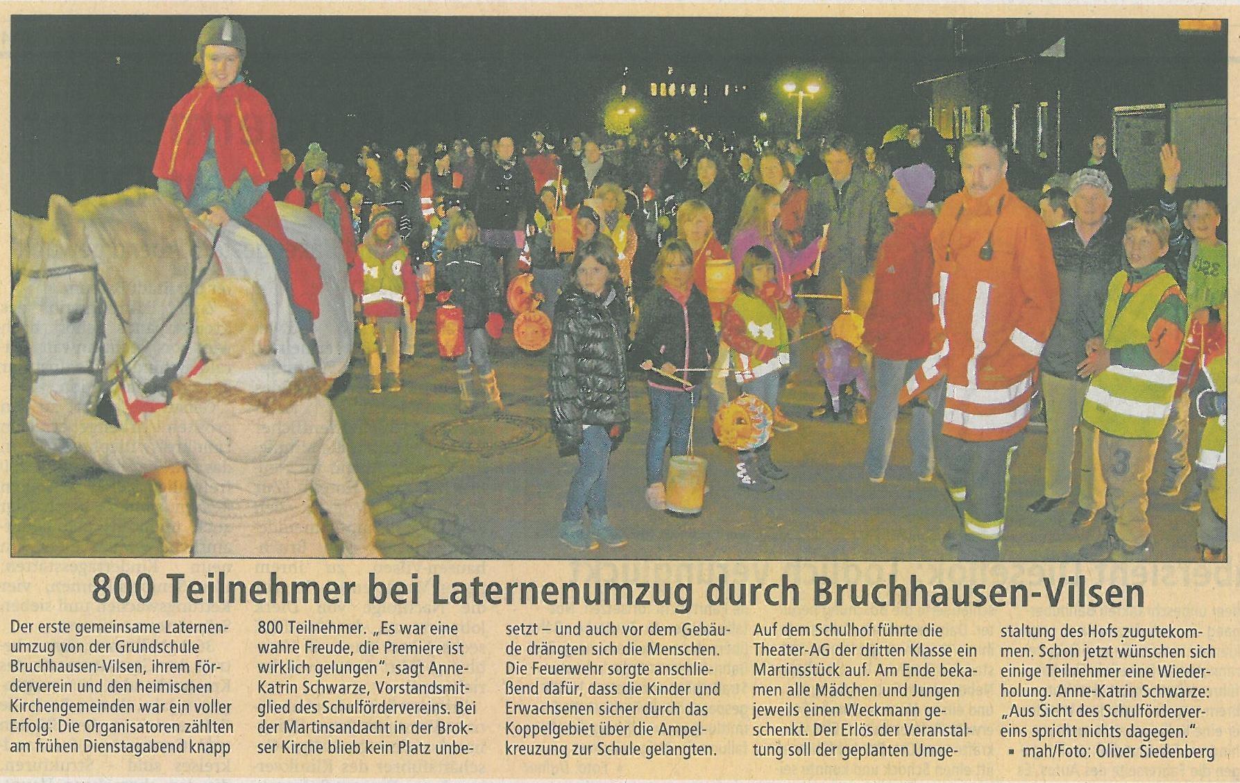 2014   Schulförderverein Für Das Schulzentrum In 27305 Bruchhausen Vilsen