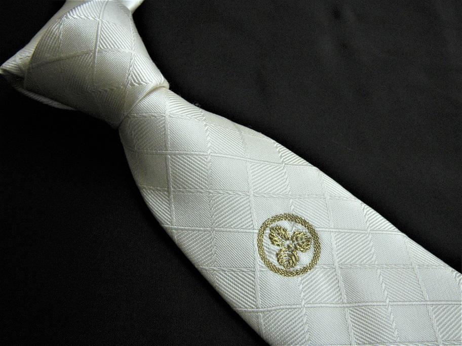 家紋ネクタイ 丸に三つ柏