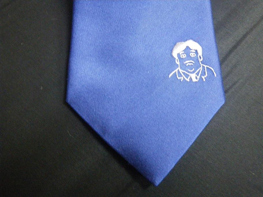 父の日に似顔絵のネクタイをプレゼント