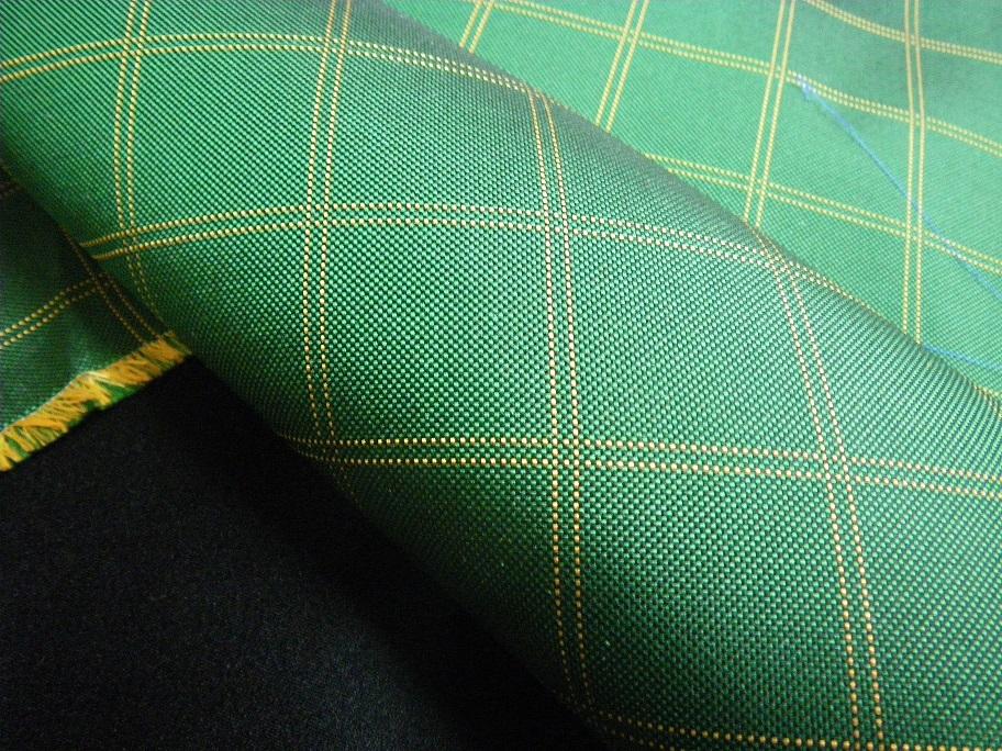 グリーン格子柄ネクタイ