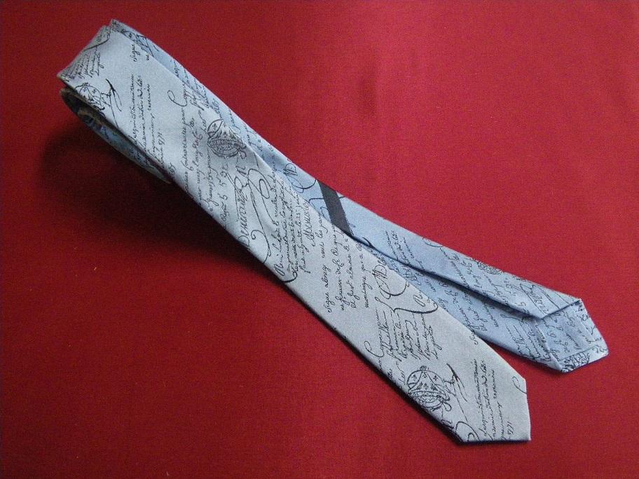 ネクタイを極細にリメイク