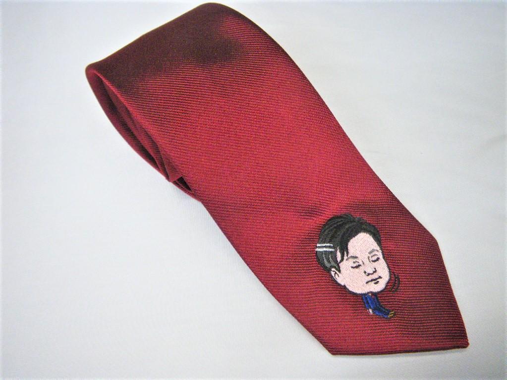 似顔絵のネクタイ