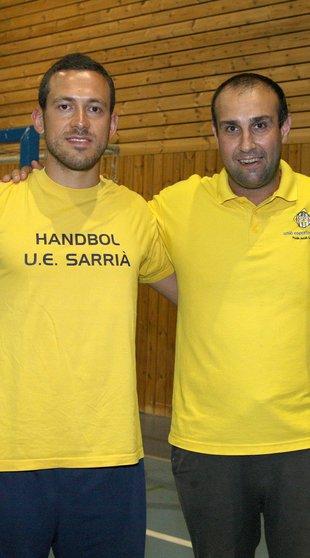 Sergi Baguer amb Josep Espar el 2014 Foto: LLUIS SERRAT.