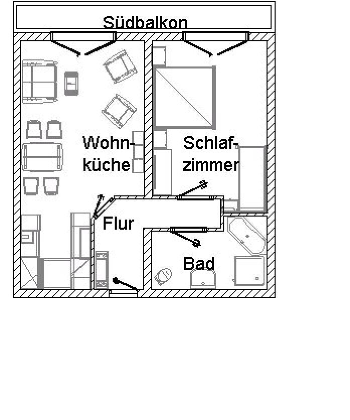 Grundriss der Ferienwohnung Heimgarten