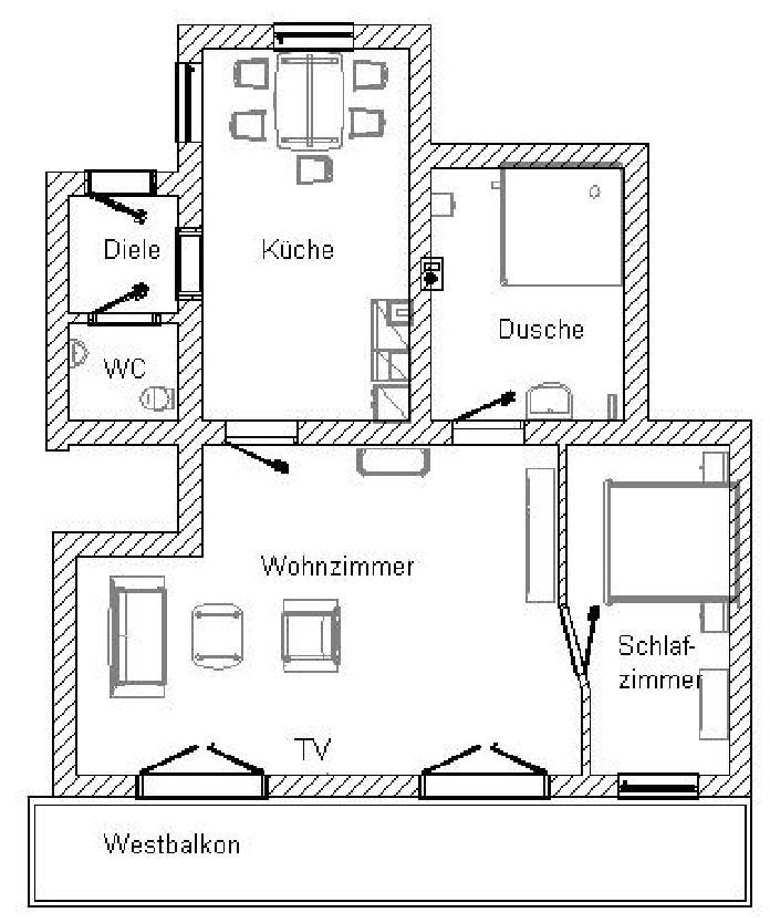 Grundriss der Ferienwohnung Laber